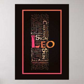 Poster de las palabras claves de Leo