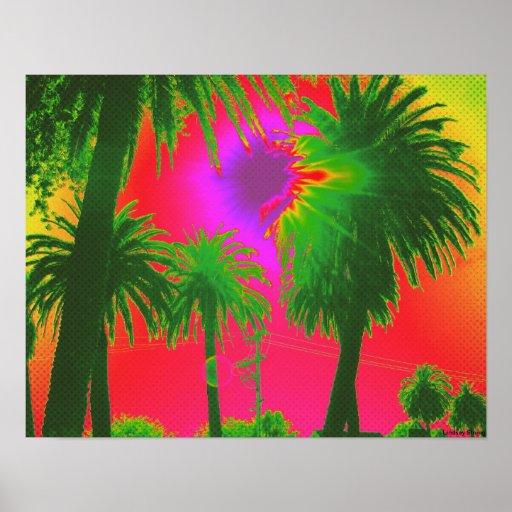 """Poster de las """"palmas"""" - clasifique pequeño (17"""" x"""