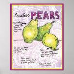 Poster de las peras de bartlett