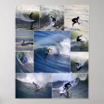 Poster de las personas que practica surf de Califo