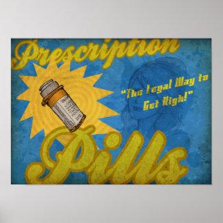 Poster de las píldoras de la prescripción