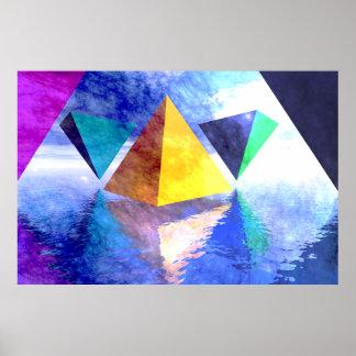 Poster de las pirámides y de los triángulos