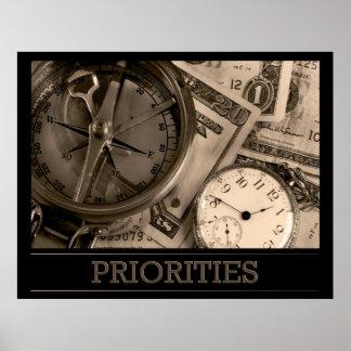 Poster de las prioridades