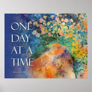 Poster de las rocas y de las flores de ODAT