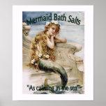 Poster de las sales de baño de la sirena