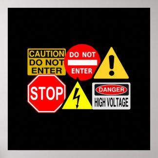¡Poster de las señales de tráfico - personalizar! Póster