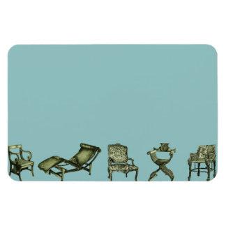 Poster de las sillas de la turquesa imán