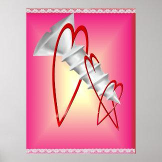 Poster de las tarjetas del día de San Valentín del