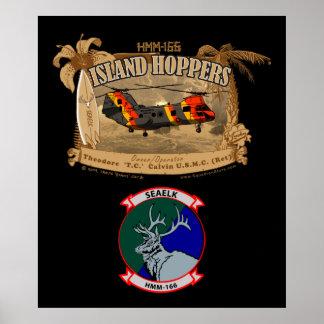 Poster de las tolvas de la isla - con insignias póster
