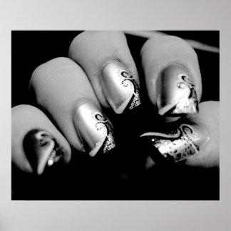 Poster de las uñas del diseñador