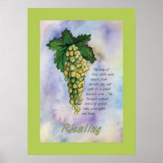 Poster de las uvas de vino de Riesling