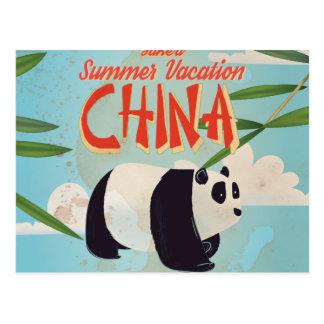 Poster de las vacaciones de China del vintage Tarjetas Postales