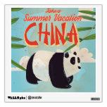 Poster de las vacaciones de la panda de China del