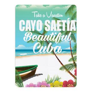 """Poster de las vacaciones de la playa de Cayo Invitación 6.5"""" X 8.75"""""""