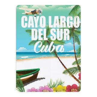 """Poster de las vacaciones de la playa de Cayo Largo Invitación 6.5"""" X 8.75"""""""