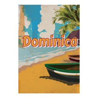 Poster de las vacaciones de la playa de Dominica