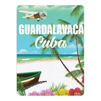 """Poster de las vacaciones de la playa de invitación 6.5"""" x 8.75"""""""