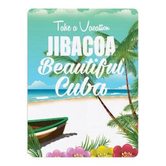 """Poster de las vacaciones de la playa de Jibacoa Invitación 6.5"""" X 8.75"""""""