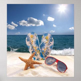 Poster de las vacaciones de la playa del verano