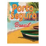 Poster de las vacaciones de Porto Seguro el Brasil Postales