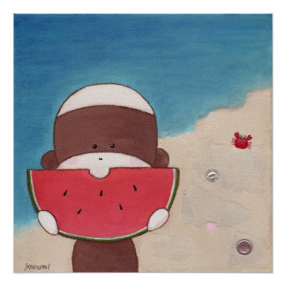 Poster de las vacaciones de verano