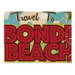 Poster de las vacaciones del vintage de Australia Postal