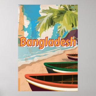 Poster de las vacaciones del vintage de Bangladesh