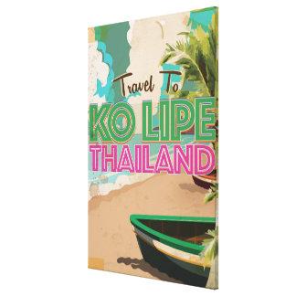 Poster de las vacaciones del vintage de Ko Lipe Impresión En Tela