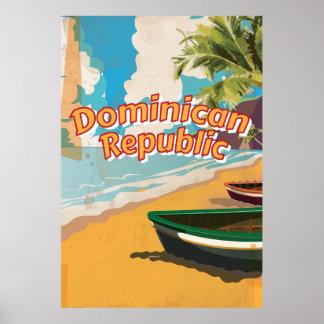 Poster de las vacaciones del vintage de la