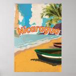 Poster de las vacaciones del vintage de Nicaragua