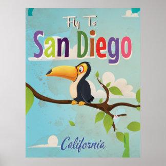 Poster de las vacaciones del vintage de San Diego