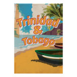 Poster de las vacaciones del vintage de Trinidad y