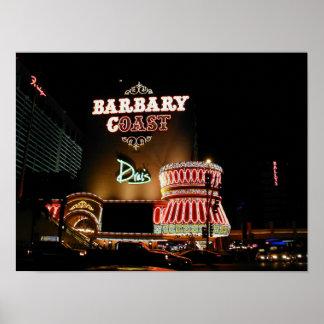 Poster de Las Vegas de la costa de Barbary