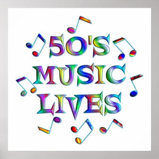 poster de las vidas de la música 50s