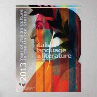 Poster de lengua italiana y de la literatura