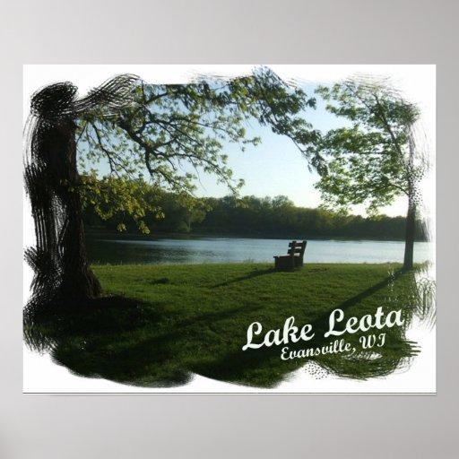 Poster de Leota Evansville Wisconsin del lago