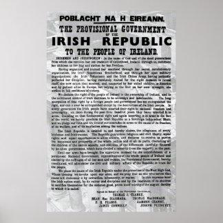 Poster de levantamiento 1916 de la proclamación de