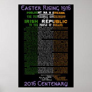 Poster de levantamiento 1916 del centenario de