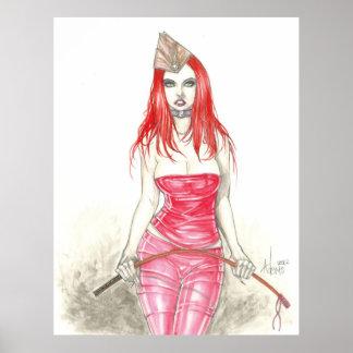 Poster de levantamiento rojo de Phoenix