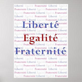 Poster de Liberte Egalite Fraternite - La Francia