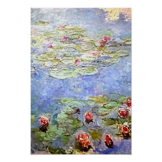 Poster de Lillies del agua de Monet Póster