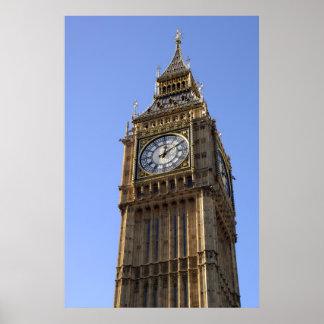 Poster de Londres de la torre de reloj de Big Ben