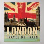 Poster de Londres de la visita del vintage
