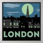 Poster de Londres del estilo del art déco
