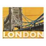 Poster de Londres del vintage Tarjeta Postal
