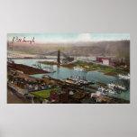 Poster de los 1800s de Pittsburgh del vintage
