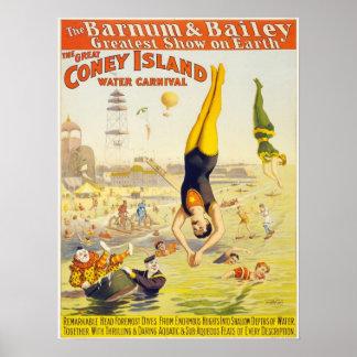 Poster de los acróbatas de circo del vintage de Co