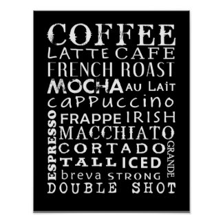 Poster de los amantes del café