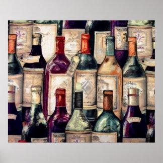 Poster de los amantes del vino