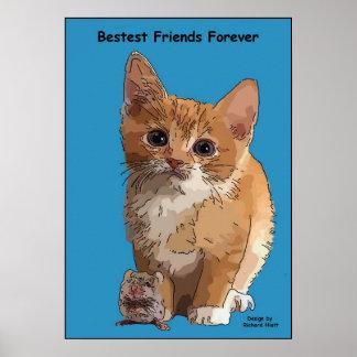 Poster de los amigos de Bestest del gato y del rat